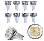 Недорогие -10pcs 4w gu10 / e27 / e14 / gu5.3 светодиодный прожектор теплый / холодный белый 350lm алюминиевый спот-лампа ac85-265v
