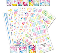 cheap -12 Nail Art Sticker  Decals Set Water Transfer Sticker Water Transfer Decals Sticker Makeup Cosmetic Nail Art Design
