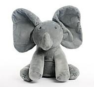 Недорогие -Классика Слон Animal Shape Мягкие игрушки Мягкие и плюшевые игрушки Милый стиль Мультфильм игрушки Животные Животные