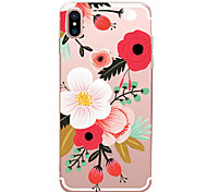 cheap -For iPhone X iPhone 8 iPhone 7 iPhone 7 Plus iPhone 6 Case Cover Ultra-thin Pattern Back Cover Case Flower Soft TPU for Apple iPhone X