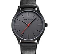 Недорогие -Муж. Модные часы Кварцевый Натуральная кожа Группа На каждый день Черный Синий Серый Хаки