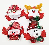 4 шт / комплект светящейся рождественской броши