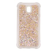 cheap -Case For Samsung Galaxy J7 (2017) J5 (2017) Shockproof Flowing Liquid Transparent Back Cover Transparent Glitter Shine Soft TPU for J7