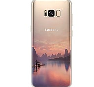 cheap -Case For Samsung Galaxy S8 S7 Ultra-thin Transparent Pattern Back Cover Scenery Soft TPU for S8 Plus S8 S7 edge S7 S6 edge plus S6 edge