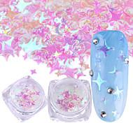 baratos -1pcs Nail Glitter / Paetês Elegante & Luxuoso / Brilho & Glitter Nail Art Design
