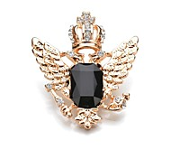Women's Brooches Crystal Classic Fashion Crystal Alloy Crown Wings / Feather Jewelry For Daily