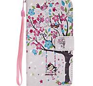 Недорогие -Кейс для Назначение SSamsung Galaxy J7 (2017) J5 (2017) Кошелек Бумажник для карт со стендом Флип С узором Чехол дерево Твердый