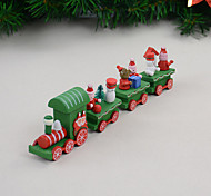 cheap -4 PCS/Set Christmas Gift Wooden Train Home Decoration Children Gift 21.5*5*3cm
