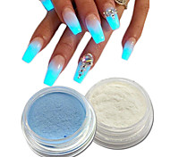 cheap -1set Sparkle & Shine Nail Glitter Luminous Acrylic Powder Nail Glitter Glitter Powder Nail Art Design