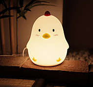 1pc LED Chicken Shape Night Light Dimmable Rechargeable Warm White USB Powered 5V 4W