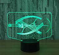 Недорогие -led 3d стерео визуальный творческий свет мечты романтический ночник (usb или 3 * aaa батарея без батареи