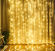 Outdoor 4.5m x 3m LED Curtain Icicle String Light Fairy Garland Waterproof For Wedding Home Decoration