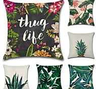 Недорогие -набор из 6 классических квадратных подушки покрытия тропических растений печати наволочку случае новинка диван подушка покрытие