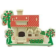 cheap -3D Puzzles Wooden Puzzles Wood Model Model Building Kit House 3D Kids Hot Sale Houses Fashion New Modern/Contemporary Children's Gift