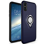 cheap -Case For Apple iPhone X iPhone 8 Ring Holder Back Cover Solid Color Hard PC for iPhone X iPhone 8 Plus iPhone 8 iPhone 7 Plus iPhone 7