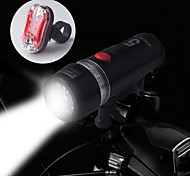 cheap -Bike Lights Rear Bike Light Front Bike Light LED Cycling Waterproof 14500 AA 100 Lumens Battery Cycling/Bike