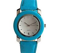 Men's Casual Watch Fashion Watch Wrist watch Japanese Quartz Casual Watch PU Band Casual Ocean Blue