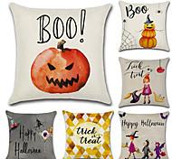 preiswerte -Satz von 6 halloween kürbis hexe druck kissenbezug klassische quadratischen kissenbezug 45 * 45 cm sofa kissenbezug