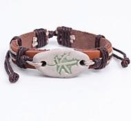cheap -Women's Leather Lovely Bracelet - Fashion Circle Brown Bracelet For Date School