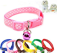 cheap -Cat Dog Collar Breathable Foldable Polka Dot Nylon Red Blue Pink