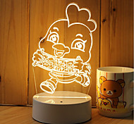 1 Set Of 3D Mood Night Light Hand Feeling Dimmable USB Powered Gift Lamp Chick