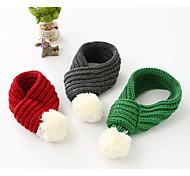 Недорогие -Собака Шарф для собаки Одежда для собак Теплый На каждый день Английский Серый Красный Зеленый Костюм Для домашних животных