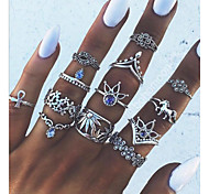 cheap -Women's Knuckle Ring One-piece Suit Silver Alloy Geometric Vintage Statement Jewelry Daily Costume Jewelry