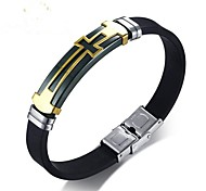 Men's Bangles Fashion Hard Plastic Steel Alloy Cross Jewelry For Gift Daily