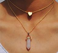 Жен. Ожерелья с подвесками В форме сердца Резина Сплав Простой Милая Бижутерия Назначение День рождения Повседневные Для вечеринок