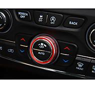 Automobile Bouton de climatisation Gadgets d'Intérieur de Voiture Pour Jeep Toutes les Années Cherokee en alliage d'aluminium