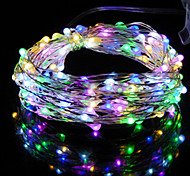 1PCS HKV® 2M 20LED DC 5V Copper Wire Fairy String Light Wedding Party Decoration String Light 3 x AA Battery (No batteries)
