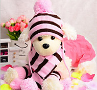 preiswerte -Katze Hund Hüte, Kappen & Bandanas Hundeschal Hundekleidung neu Lässig/Alltäglich warm halten Kopfwärmer Streifen Streifen Gelb Rosa