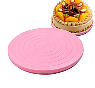 Cake DIY Plastic Cake Stand Decor Turntable Manually Rotating Round Shaped Mounting Pattern Tool