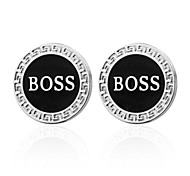 "cheap -1 ¼"" Circle Gray Cufflinks Brass Office/career Party Men's Costume Jewelry"