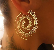 cheap -Women's Hoop Earrings - Vintage Sexy Gold Silver Round Waves Earrings For Christmas Wedding Party Gift Stage Club
