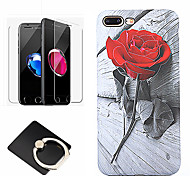 cheap -Case For Apple iPhone 8 iPhone 8 Plus Pattern Back Cover Flower Soft Silicone for iPhone 8 Plus iPhone 8 iPhone 7 Plus iPhone 7 iPhone 6s