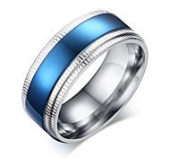Недорогие -мужская группа кольца моды старинные титановые стали круг ювелирные изделия для свадьбы