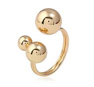 Недорогие -Жен. манжета кольцо Кольцо на кончик пальца металлический Мода Медь Шарообразные Бижутерия Для улицы На выход