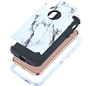 Недорогие -Кейс для Назначение Apple iPhone X iPhone X Защита от удара Чехол Мрамор Твердый ПК для iPhone X