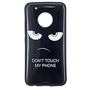Недорогие -Кейс для Назначение Motorola G5 Plus G5 IMD С узором Кейс на заднюю панель Слова / выражения Мягкий ТПУ для Мото G5 Plus Moto G5 Мото G4
