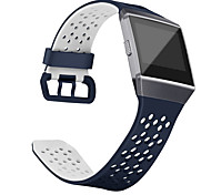 cheap -Watch Band for Fitbit ionic Fitbit Sport Band Classic Buckle Silicone Wrist Strap