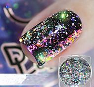 Недорогие -1шт Блестящие Лазерная голографическая Порошок блеска Дизайн ногтей