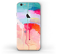 cheap -1 pc Skin Sticker for Scratch Proof Oil Painting Pattern Matte PVC iPhone 6s/6