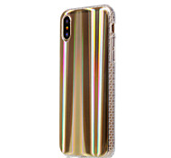 cheap -Case For Apple iPhone X iPhone 8 Plus Plating Back Cover Lines / Waves Color Gradient Soft TPU for iPhone X iPhone 8 Plus iPhone 8 iPhone