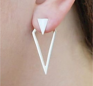 cheap -Women's Stud Earrings / Front Back Earrings - Vintage / Statement / Fashion Gold / Silver Triangle / Geometric Earrings For Bar / Club