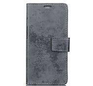 Недорогие -Кейс для Назначение HTC Кошелек Бумажник для карт Флип Чехол Сплошной цвет Твердый Искусственная кожа для HTC U11 plus
