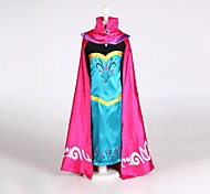 cheap -Princess Fairytale Anna Dress Cloak Kid Christmas Birthday Masquerade Festival / Holiday Halloween Costumes Red Color Block
