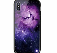cheap -Case For Apple iPhone X iPhone 8 Pattern Back Cover sky Hard Tempered Glass for iPhone X iPhone 8 Plus iPhone 8 iPhone 7 Plus iPhone 7