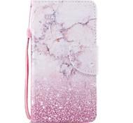 Недорогие -Кейс для Назначение SSamsung Galaxy S8 Plus S8 Бумажник для карт Кошелек со стендом Флип Магнитный С узором Чехол Мрамор Твердый Кожа PU