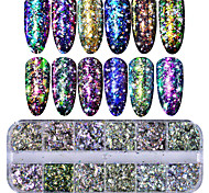 cheap -1set Nail Glitter Sequins Nail Glitter Glitter Powder Sequins Nail Art Tips Nail Art Design